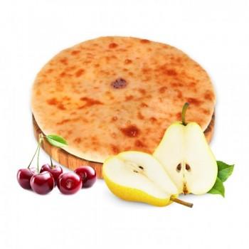 Осетинский пирог с грушей и вишней