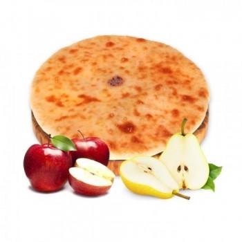 Осетинский пирог с грушей и яблоком