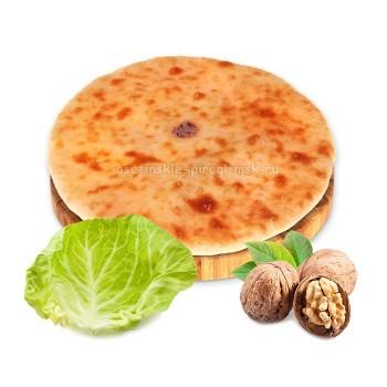 Осетинский пирог с капустой и грецким орехом