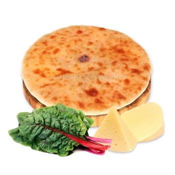 Осетинский пирог с сыром и свекольным листом