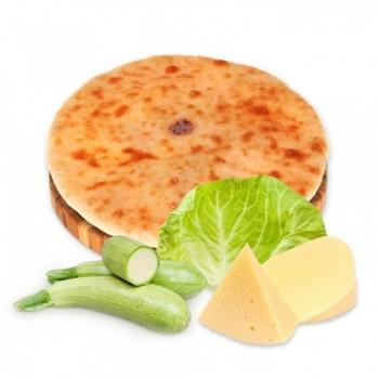 Осетинский пирог с сыром, капустой и кабачком