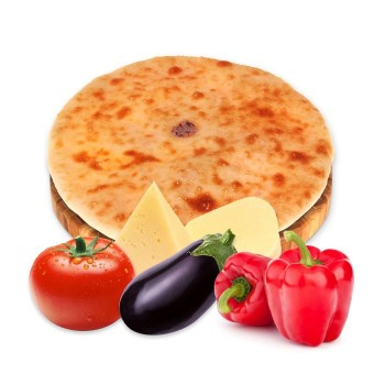 Осетинский пирог с сыром и запеченными овощами