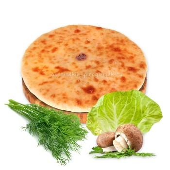 Осетинские пироги с капустой, укропом и грибами