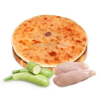 Осетинский пирог с курицей и кабачками