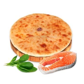 Осетинский пирог с лососем и шпинатом