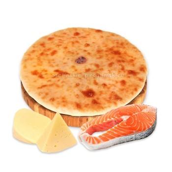 Осетинский пирог с лососем и сыром
