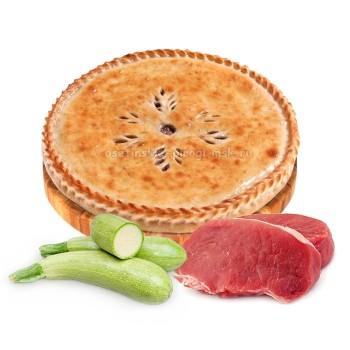 Осетинский пирог с мясом и кабачком