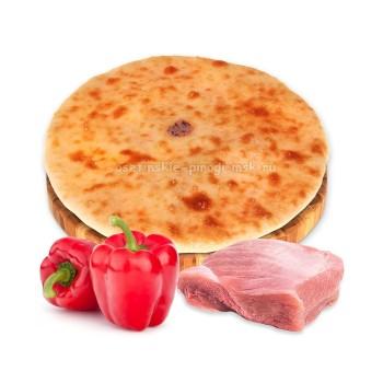 Осетинский пирог с индейкой и болгарским перцем