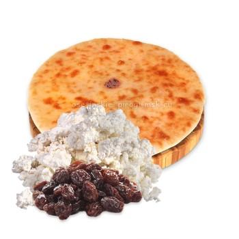 Осетинский пирог с творогом и изюмом