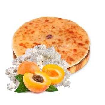 Осетинский пирог с творогом и абрикосом