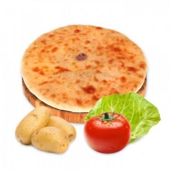 Осетинский пирог с картошкой, капустой и помидорами