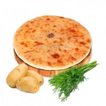 Осетинский пирог с картошкой и укропом