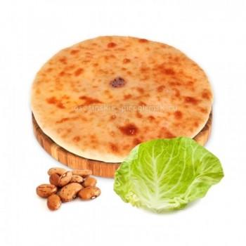 Осетинский пирог с фасолью и капустой