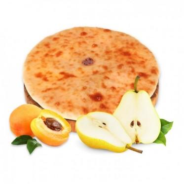 Осетинский пирог с грушей и абрикосом