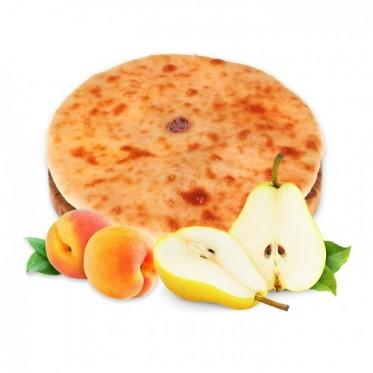 Осетинский пирог с грушей и персиком