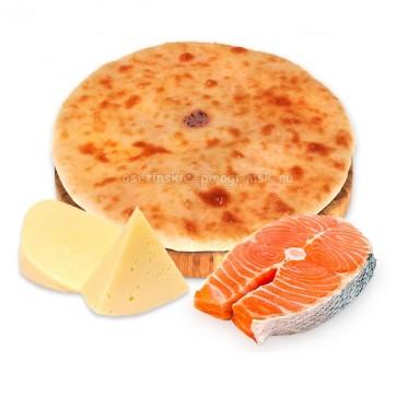 Осетинский пирог с семгой и сыром
