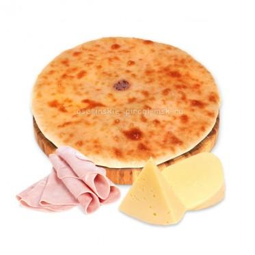 Осетинский пирог с сыром и ветчиной