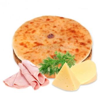 Осетинский пирог с сыром, ветчиной и укропом