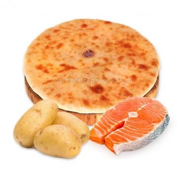 Осетинский пирог с картошкой и семгой