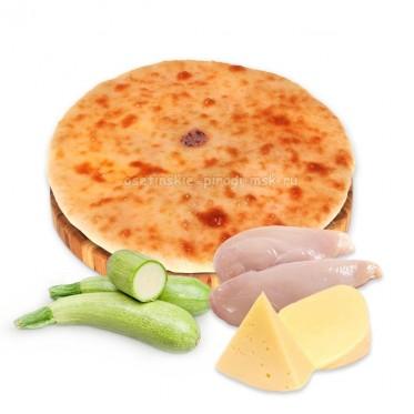Осетинский пирог с курицей, сыром и кабачками