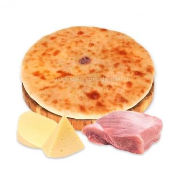 Осетинский пирог с индейкой и сыром
