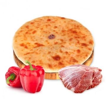 Осетинский пирог с бараниной и болгарским перцем