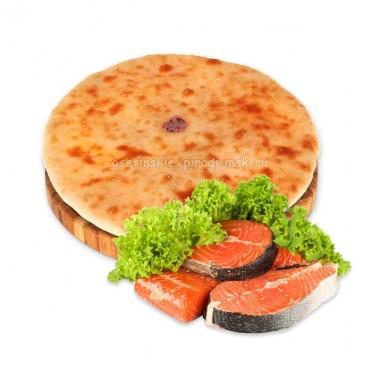 Осетинский пирог с семгой и зеленью