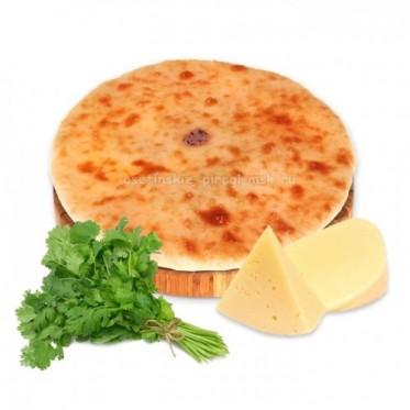 Осетинский пирог с сыром и кинзой