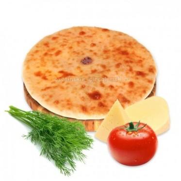 Осетинский пирог с сыром, укропом и помидорами