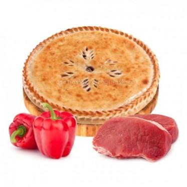 Осетинский пирог с мясом и болгарским перцем